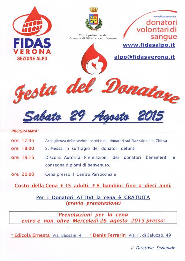 Festa del Donatore 2015